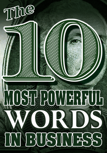 Business speaker session for the ten most powerful words in business